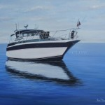 Motorboat This client wanted a painting done of her husband's motor boat