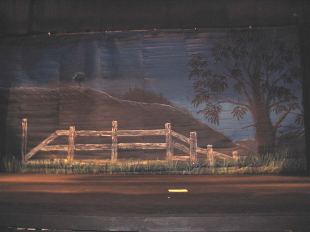 "The 14x30 foot set design and painting done for ""Oklahoma"" at the Yarc, Yarmouth"
