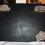 painted sandwich board