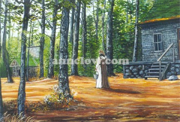 Solitude Nova Nada was a Carmelite hermitage and retreat center deep in the woods of southwestern Nova Scotia.