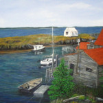 Quiet Habour in Nova Scotia 24x 36