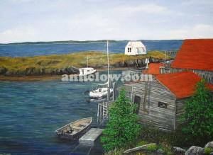 Quiet Habour in Nova Scotia 24x 36
